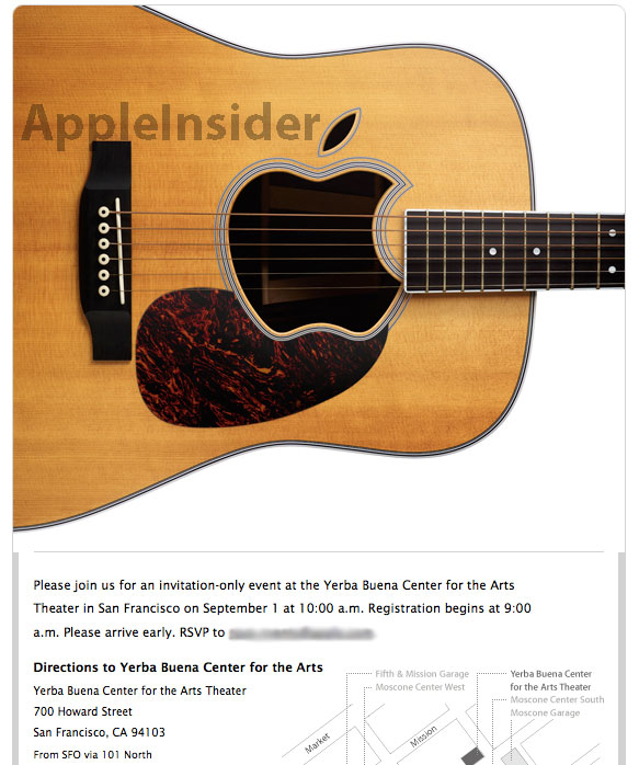 Invito Apple 1/9/2010