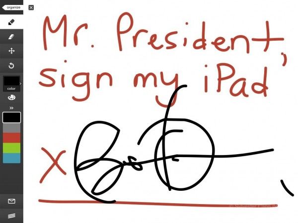 Autografo di Obama