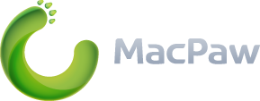 MacPaw web logo for light background