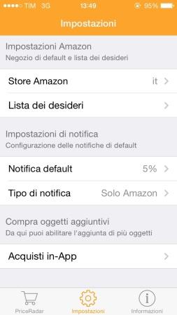 Impostazioni dell'App