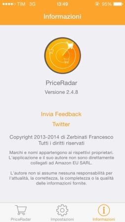 Price Radar dello sviluppatore italiano Francesco Zerbinati