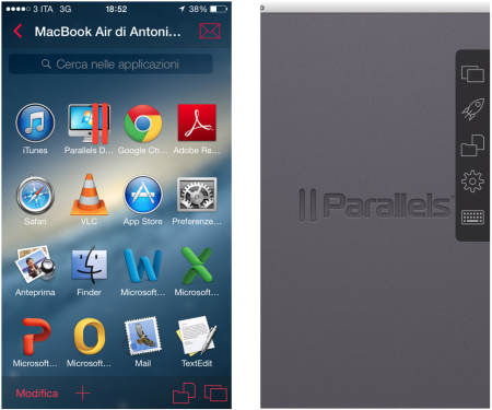 Parallels Access - Scrivania