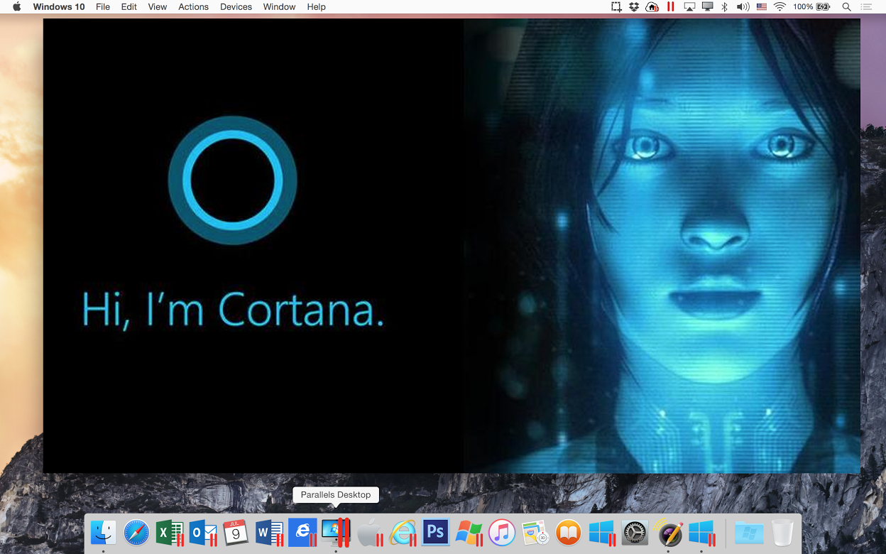 Win10 Yosemite_cortana