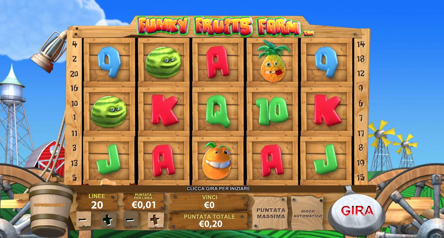 Gioca a Funky Fruit Farm su Casino.com Italia