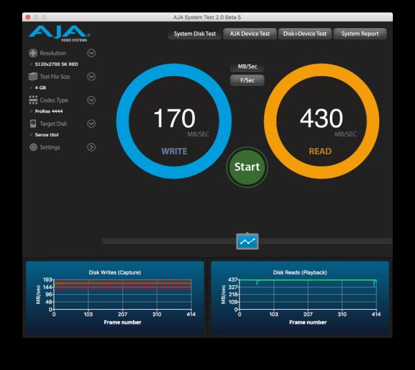 Freecom mSSD nerdvana AJA System Test