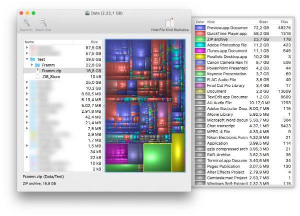 Come individuare file ingombranti macOS Disk Inventory X nerdvana