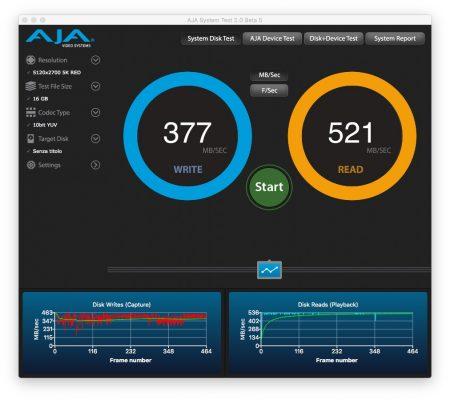 SanDisk Ultra 3D SSD SATA III nerdvana AJA System Test