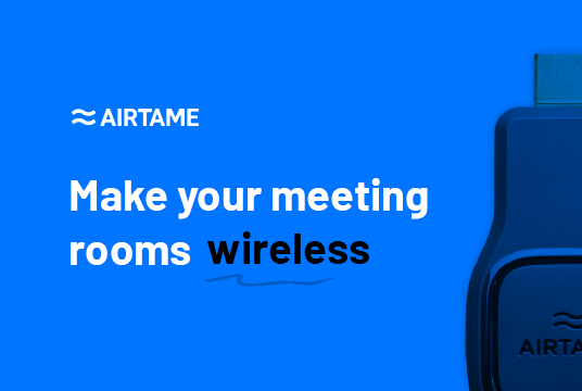Airtame wireless streaming via HDMI