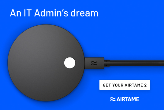 Airtame 2 wireless streaming via HDMI