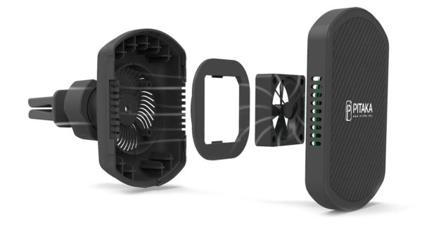 Pitaka MagMount MagCase supporto auto magnetico ricarica wireless Qi nerdvana