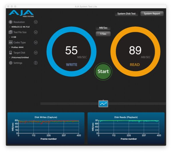 microSD Kioxia Exceria speed test