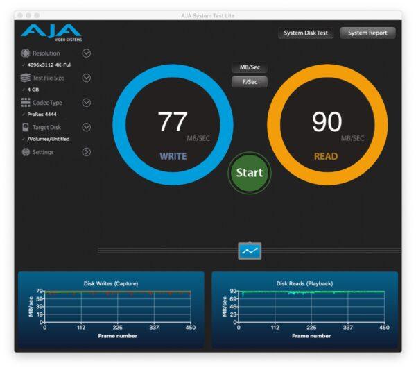 SD card Kioxia Exceria Plus speed test